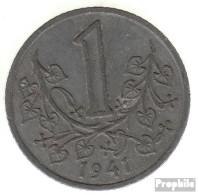 Böhmen Und Mähren Jägernr: 623 1943 Vorzüglich Zink Vorzüglich 1943 1 Krone Wappenlöwe - [ 4] 1933-1945 : Tercer Reich