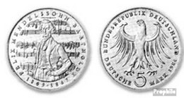 BRD (BR.Deutschland) Jägernr: 436 1984 J Stgl./unzirkuliert Kupfer-Nickel Stgl./unzirkuliert 1984 5 DM Bartholdy - [10] Commemorations