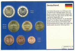 BRD (BR.Deutschland) 2002 J Stgl./unzirkuliert Kursmünzensatz Stgl./unzirkuliert 2002 EURO-Erstausgabe - Germany
