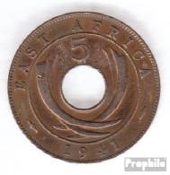Brit. Ostafrika Und Uganda 25 1941 I Typ 1 Sehr Schön Bronze Sehr Schön 1941 5 Cents George VI. - Ostafrika Und Herrschaft Von Uganda