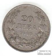 Bulgarien KM-Nr. : 47 1940 Vorzüglich Kupfer-Nickel Vorzüglich 1940 20 Leva Ziffern Im Kranz - Bulgaria