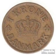 Dänemark KM-Nr. : 824 1936 Sehr Schön Aluminium-Bronze Sehr Schön 1936 1 Krone Gekröntes Monogramm - Dänemark