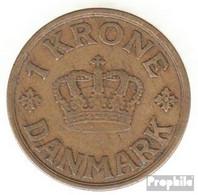 Dänemark KM-Nr. : 824 1940 Sehr Schön Aluminium-Bronze Sehr Schön 1940 1 Krone Gekröntes Monogramm - Dänemark