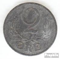 Dänemark KM-Nr. : 833 1944 Sehr Schön Zink Sehr Schön 1944 2 Öre Gekröntes Monogramm - Dänemark