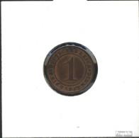 Deutsches Reich Jägernr: 313 1934 E Sehr Schön Bronze Sehr Schön 1934 1 Reichspfennig Ährengarbe - [ 4] 1933-1945 : Third Reich