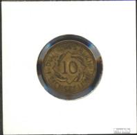 Deutsches Reich Jägernr: 317 1934 D Sehr Schön Aluminium-Bronze 1934 10 Reichspfennig Ähren - [ 4] 1933-1945 : Third Reich