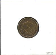 Deutsches Reich Jägernr: 316 1936 F Vorzüglich Aluminium-Bronze Vorzüglich 1936 5 Reichspfennig Ähren - 5 Reichspfennig