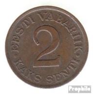 Estland KM-Nr. : 15 1934 Sehr Schön Bronze Sehr Schön 1934 2 Senti Leoparden - Estonie