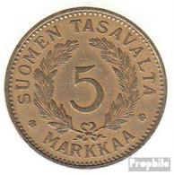 Finnland KM-Nr. : 31 1937 Sehr Schön Aluminium-Bronze 1937 5 Markkaa Wappen - Finnland