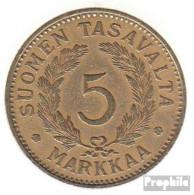 Finnland KM-Nr. : 31 1941 Vorzüglich Aluminium-Bronze Vorzüglich 1941 5 Markkaa Wappen - Finnland