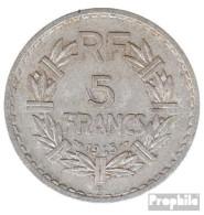 Frankreich KM-Nr. : 888 1945 B Sehr Schön Aluminium Sehr Schön 1945 5 Francs Laureate - Frankreich