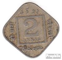 Indien KM-Nr. : 516 1935 Sehr Schön Kupfer-Nickel Sehr Schön 1935 2 Annas George V. - Indien