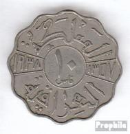 Irak 103 1938 Typ A Sehr Schön Kupfer-Nickel Sehr Schön 1938 10 Fils Ghazi I. - Iraq