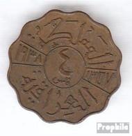 Irak 105 1938 Typ B Sehr Schön Bronze Sehr Schön 1938 4 Fils Ghazi I. - Irak