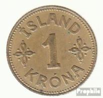 Island KM-Nr. : 3 1940 Sehr Schön Aluminium-Bronze Sehr Schön 1940 1 Krona Gekröntes Wappen - Island