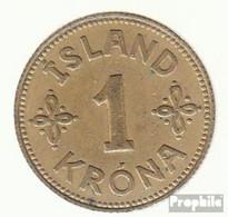 Island KM-Nr. : 3 1940 Vorzüglich Aluminium-Bronze Vorzüglich 1940 1 Krona Gekröntes Wappen - Island