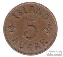 Island KM-Nr. : 7 1940 Sehr Schön Bronze Sehr Schön 1940 5 Aurar Gekröntes Monogramm - Island
