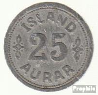 Island KM-Nr. : 2 1942 Sehr Schön Zink Sehr Schön 1942 25 Aurar Gekröntes Wappen - Island