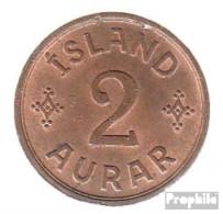 Island KM-Nr. : 6 1942 Vorzüglich Bronze 1942 2 Aurar Gekröntes Monogramm - Island