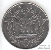 Italien KM-Nr. : 78 1939 B XVIII Sehr Schön Stahl Sehr Schön 1939 2 Lire Vittorio Emanuele III. - 1861-1946: Königreich