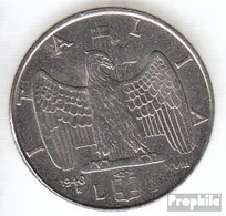 Italien KM-Nr. : 77 1942 Stgl./unzirkuliert Stahl Stgl./unzirkuliert 1942 1 Lira Vittorio Emanuele III. - 1861-1946: Königreich