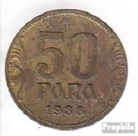 Jugoslawien 18 1938 Vorzüglich Aluminium-Bronze Vorzüglich 1938 50 Para Krone - Jugoslawien