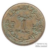 Marokko KM-Nr. : 41 1945 Vorzüglich Aluminium-Bronze Vorzüglich 1945 1 Franc Stern - Marokko