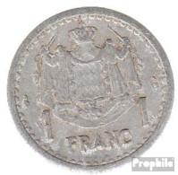 Monaco KM-Nr. : 120 1943 Sehr Schön Aluminium Sehr Schön 1943 1 Franc Louis II. - Monaco