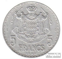 Monaco KM-Nr. : 122 1945 Vorzüglich Aluminium Vorzüglich 1945 5 Francs Louis II. - Monaco