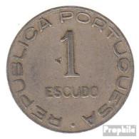 Mosambik KM-Nr. : 66 1936 Sehr Schön Kupfer-Nickel Sehr Schön 1936 1 Escudo Wappen - Mosambik