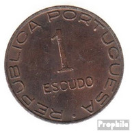 Mosambik KM-Nr. : 74 1945 Sehr Schön Bronze Sehr Schön 1945 1 Escudo Wappen - Mozambique