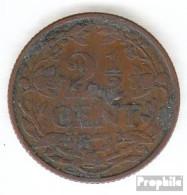 Niederlande KM-Nr. : 150 1941 Vorzüglich Bronze 1941 2-1/2 Cent Gekrönter Löwe - [ 3] 1815-…: Königreich Der Niederlande