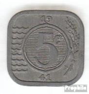 Niederlande KM-Nr. : 172 1941 Vorzüglich Zink Vorzüglich 1941 5 Cents Pferdeköpfe - [ 3] 1815-…: Königreich Der Niederlande