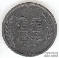 Niederlande KM-Nr. : 174 1941 Sehr Schön Zink Sehr Schön 1941 25 Cents Segelschiff - [ 3] 1815-…: Königreich Der Niederlande