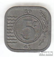 Niederlande KM-Nr. : 172 1942 Vorzüglich Zink Vorzüglich 1942 5 Cents Pferdeköpfe - [ 3] 1815-…: Königreich Der Niederlande