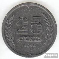 Niederlande KM-Nr. : 174 1942 Vorzüglich Zink Vorzüglich 1942 25 Cents Segelschiff - [ 3] 1815-…: Königreich Der Niederlande