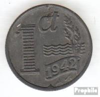 Niederlande KM-Nr. : 170 1943 Vorzüglich Zink Vorzüglich 1943 1 Cent Kreuz Mit Banner - [ 3] 1815-…: Königreich Der Niederlande