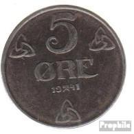 Norwegen KM-Nr. : 388 1941 Vorzüglich Eisen Vorzüglich 1941 5 Öre Wappen - Norwegen