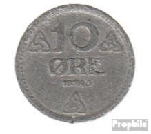 Norwegen KM-Nr. : 389 1943 Sehr Schön Zink Sehr Schön 1943 10 Öre Wappen - Norwegen