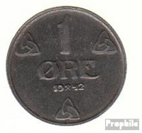 Norwegen KM-Nr. : 387 1944 Vorzüglich Eisen Vorzüglich 1944 1 Öre Wappen - Norwegen
