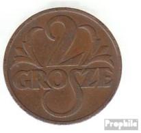 Polen KM-Nr. : 9 1936 Vorzüglich Bronze Vorzüglich 1936 2 Grosze Gekrönter Adler - Polen