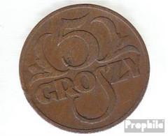 Polen KM-Nr. : 10 1938 Sehr Schön Bronze Sehr Schön 1938 5 Groszy Gekrönter Adler - Polen