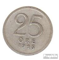 Schweden KM-Nr. : 816 1945 Sehr Schön Silber Sehr Schön 1945 25 Öre Krone - Schweden