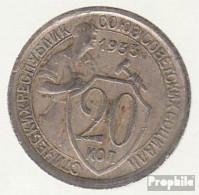 Sowjetunion KM-Nr. : 97 1933 Sehr Schön Kupfer-Nickel Sehr Schön 1933 20 Kopeken Wappen - Russland
