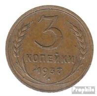 Sowjetunion KM-Nr. : 107 1940 Sehr Schön Aluminium-Bronze Sehr Schön 1940 3 Kopeken Wappen - Rusia