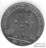 Vatikanstadt KM-Nr. : 33 1942 Stgl./unzirkuliert Stahl Stgl./unzirkuliert 1942 20 Centesimi Justicia - Vatikan