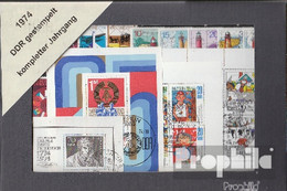 DDR 1974 Gestempelt Kompletter Jahrgang In Sauberer Erhaltung - DDR