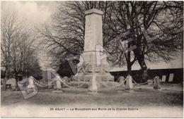 Abjat (24) - Le Monument Aux Morts De La Grande Guerre - France