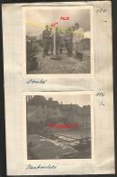 WW2 PHOTO ORIGINALE X2  Soldats Allemands à PONTARLIER DOUBS 25 OCCUPATION 1940 - 1939-45