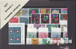 Schweiz 1971 Gestempelt Kompletter Jahrgang In Sauberer Erhaltung - Suisse